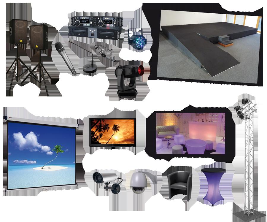 vente et installation audio videosurveillance scene sonorisation son totem structure mobilier chauffeuse micro enceinte par led videosurveillance